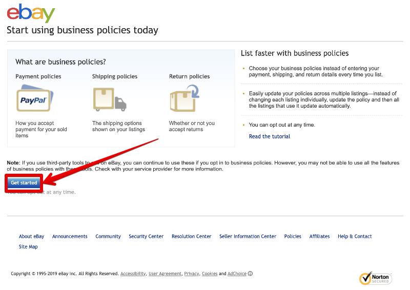 ebayビジネスポリシーの設定方法