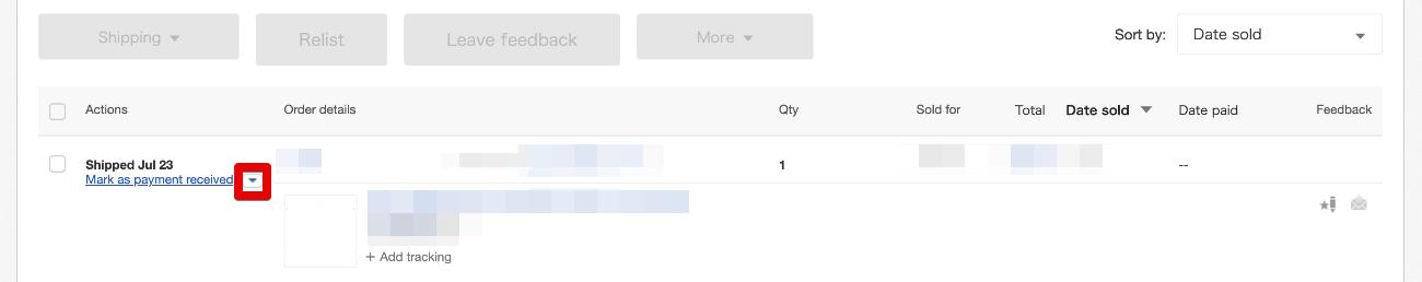 eBay輸出落札後の流れ011