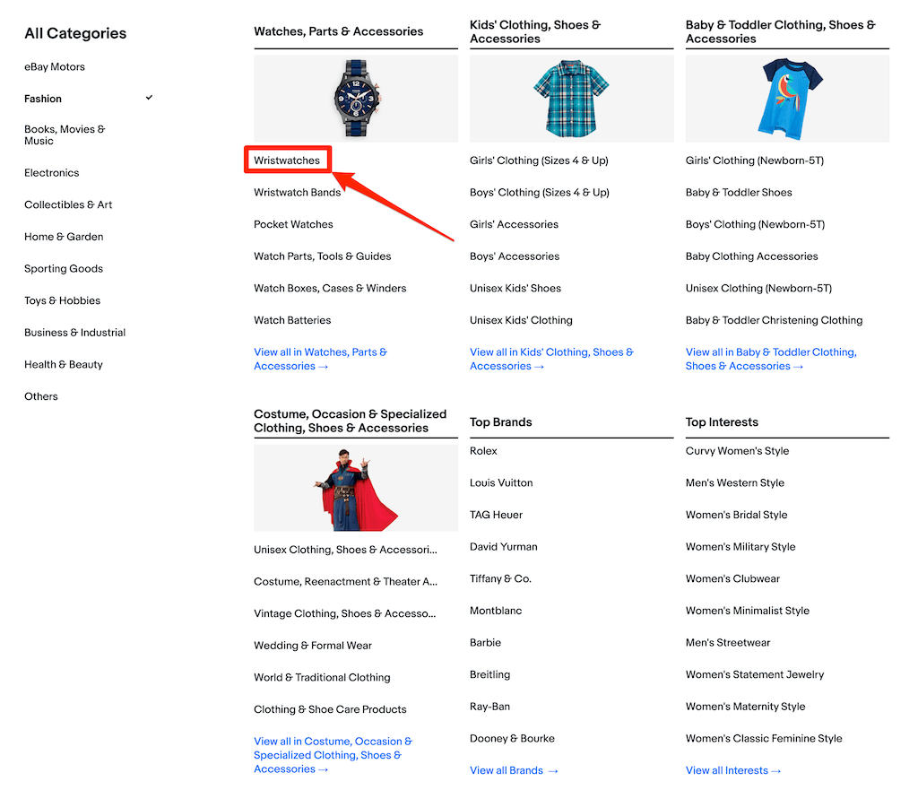 ebay輸出でのeBayカテゴリーIDカテゴリーナンバーを調べる方法002