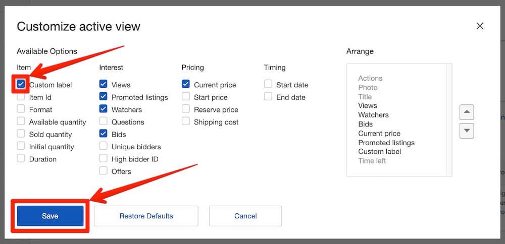 ebay輸出でカスタムラベルに短縮URLを使用する方法0005