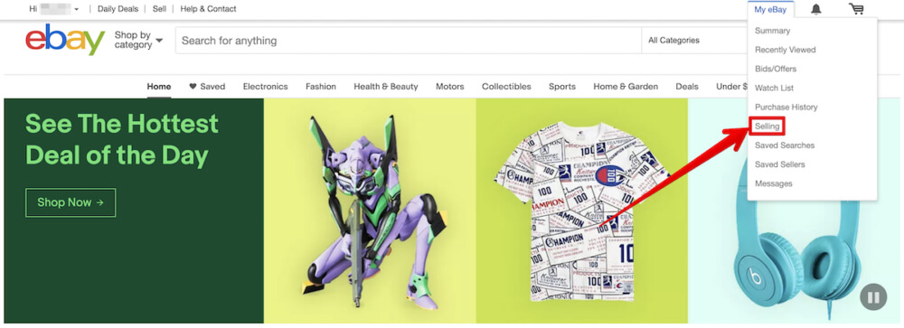 eBay輸出出品方法001